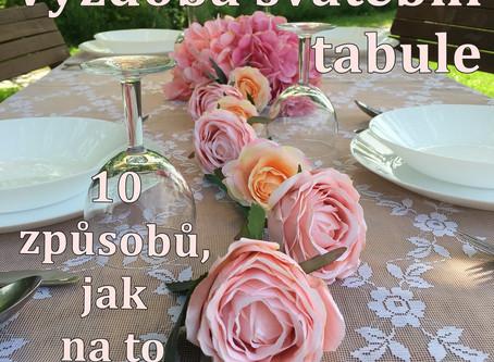 Výzdoba svatební tabule