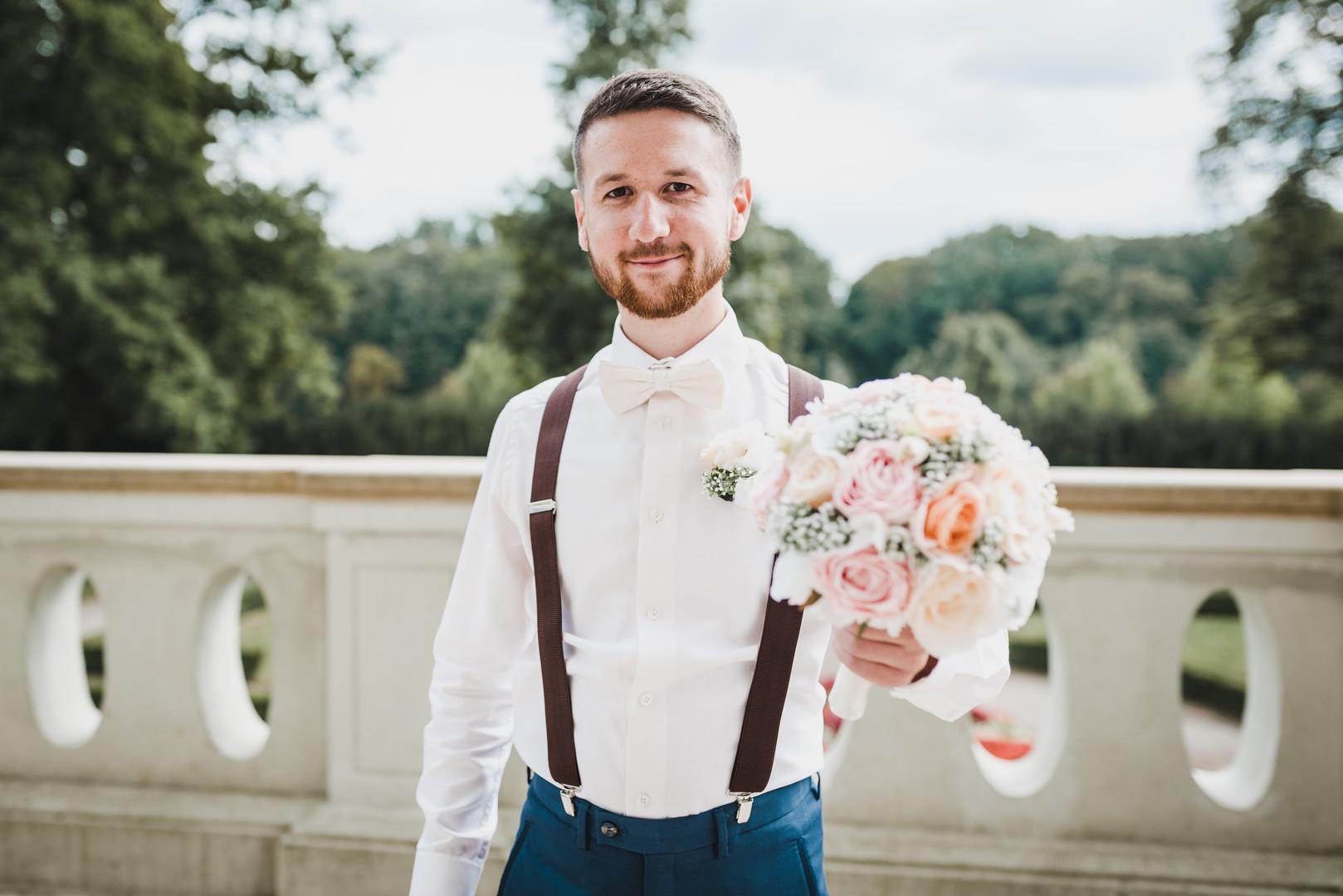 svatební látková kytice