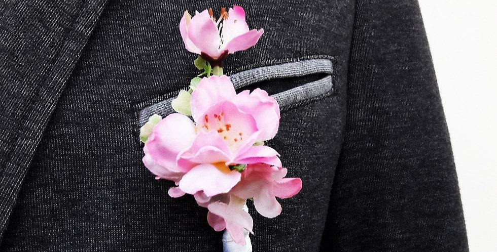 Korsáž pro ženicha - jabloňové kvítky