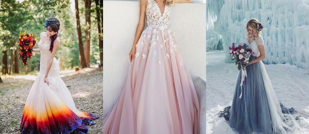 Svatební šaty barevné