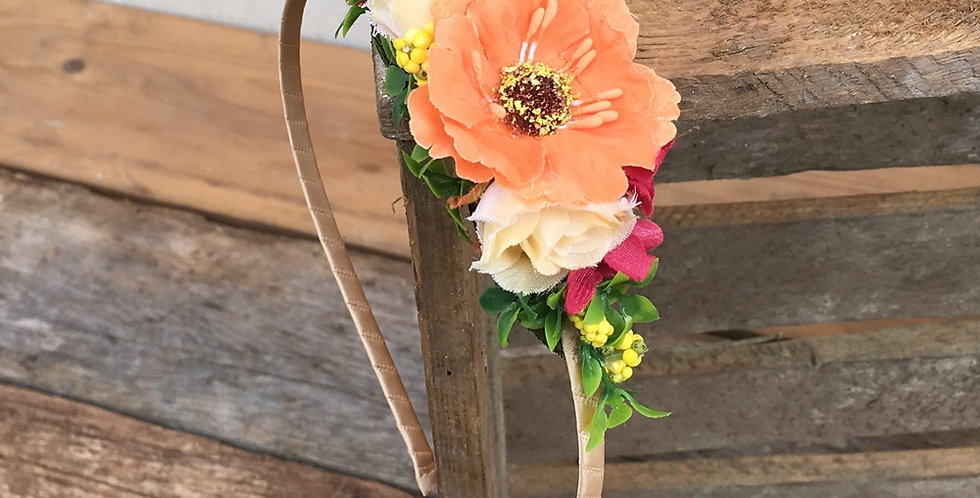 Květinová čelenka Amálka