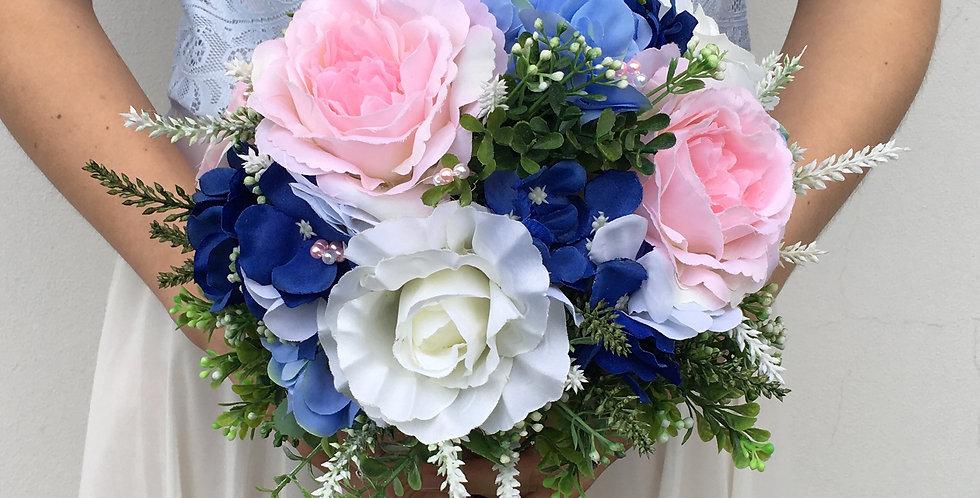 Svatební kytice - modrý sen