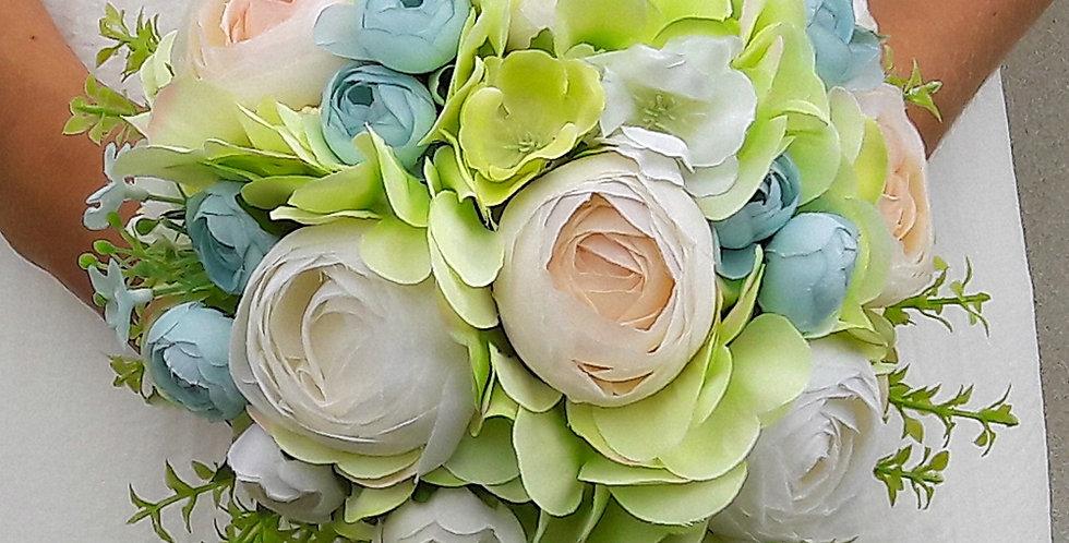Zelenomodrý svatební set
