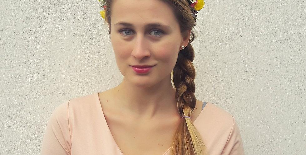 Květinový věneček do vlasů jarní