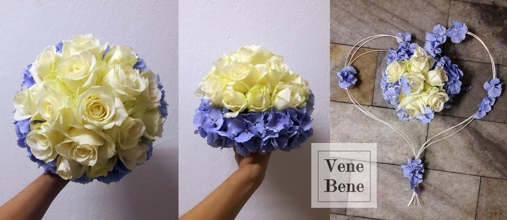 Svatební kytice z hortenzie