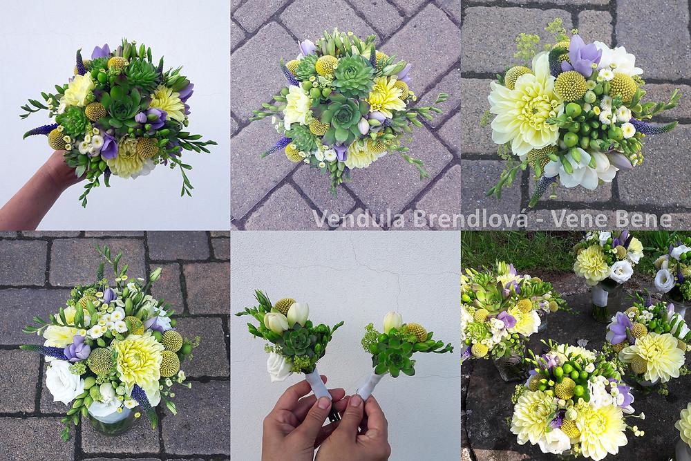 Svatební kytice z netřesku