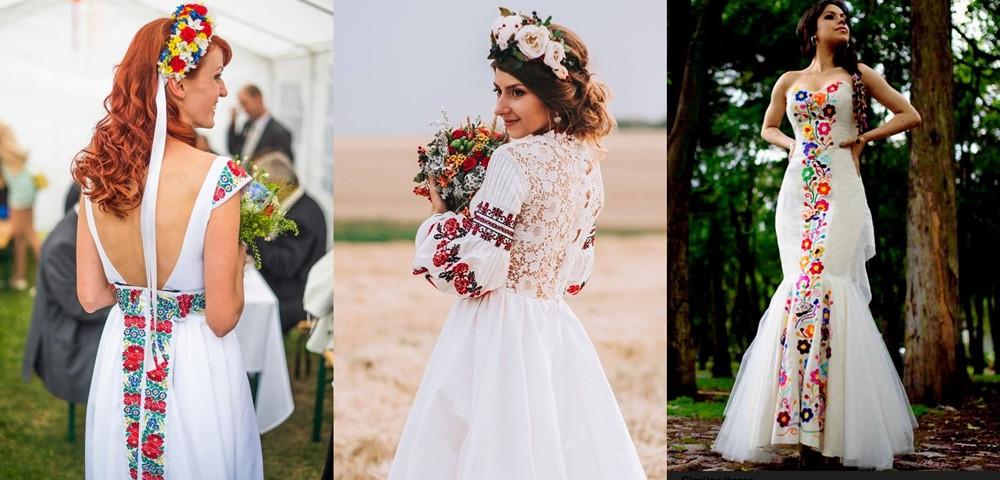 folklorní svatební šaty
