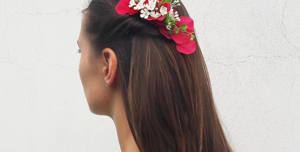 Květinový hřebínek do vlasů - Sela