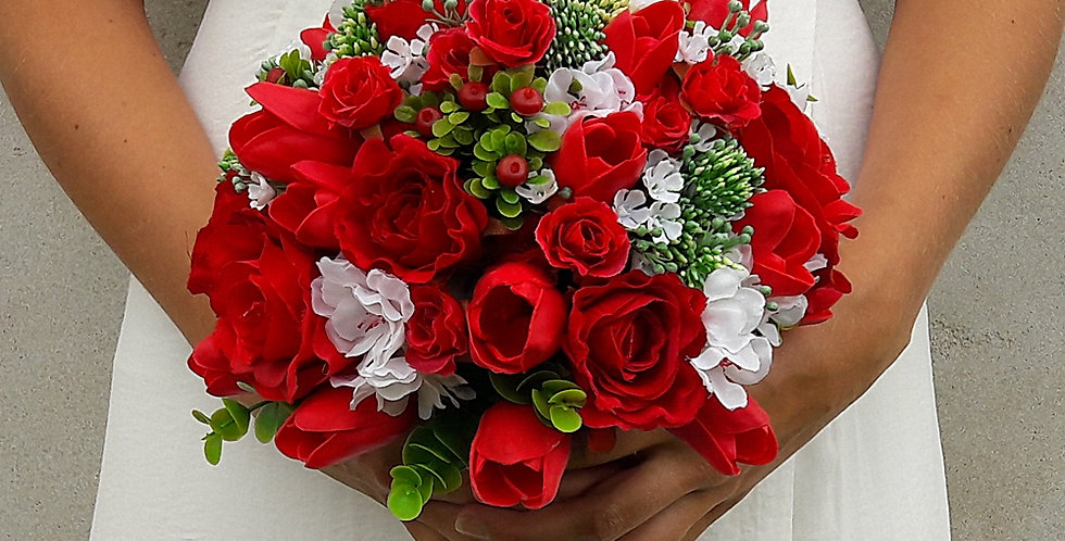 Svatební květinový set -tulipánový