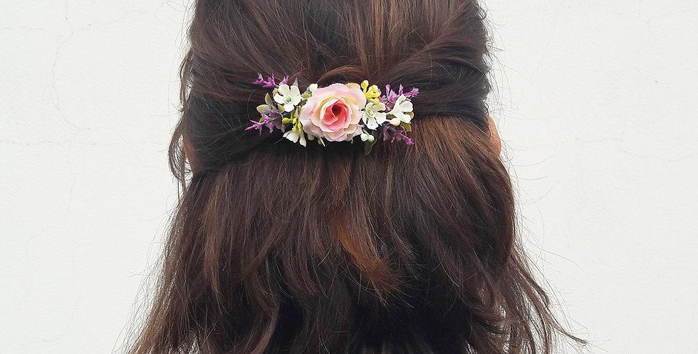 Květinová spona do vlasů - jahoda