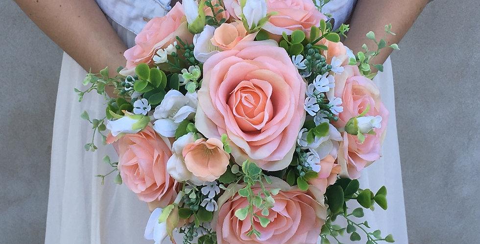 Svatební kytice meruňková