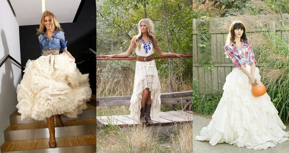 Countrysvatební šaty