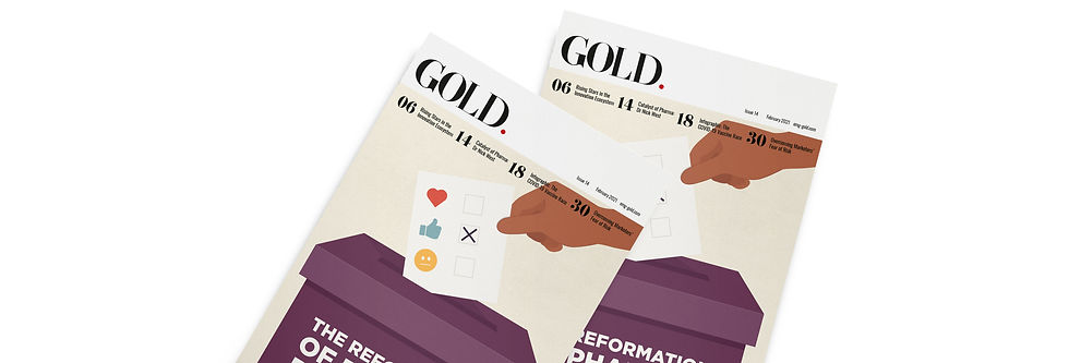 2 GOLD 14 Magazine Banner Template 1584