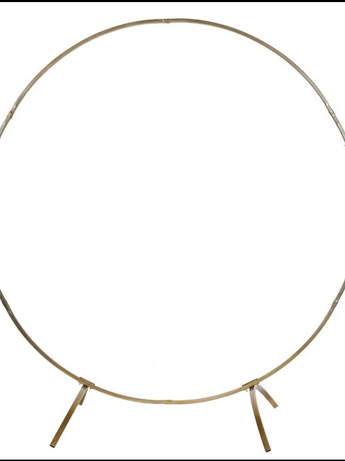 Tall Gold Round Metal Wedding Arch