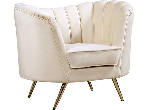 Ivory Velvet Chair
