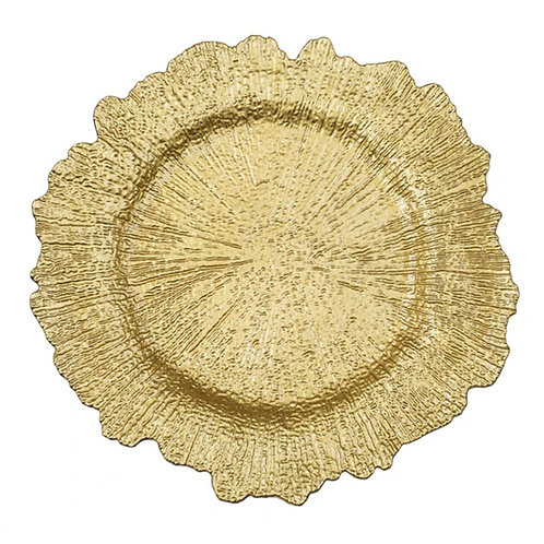 Wide Gold Acrylic Charger Plate
