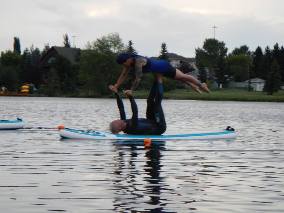 Acro Yoga Floating Fun