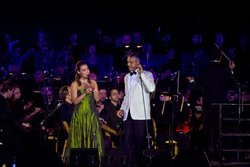 Mira Awad and Andrea Bocelli