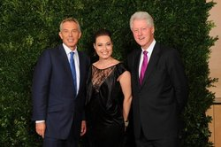 Tony Blair, Mira Awad, Bill Clinton