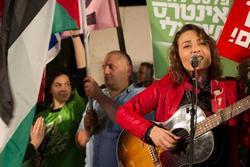 Mira Awad in Peace rally