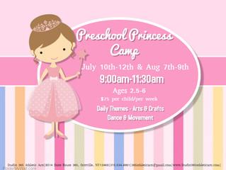 Preschool Princess Camp