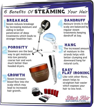 Natual heathy hair steamer