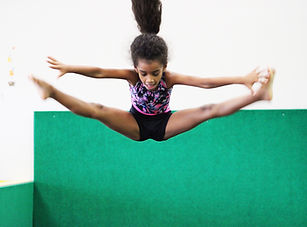 sunny Gymnastics contact girl straddle j