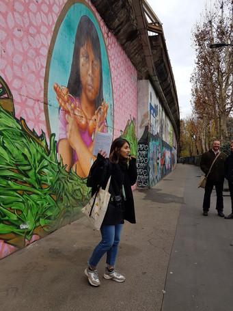 Migrantour on Via Padova, mural of Sarita Colonia