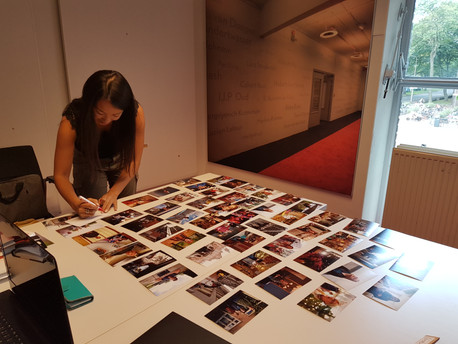 Rehab has taken tens of thousands of photos so far. Here, Ingi and I are sorting through just a fraction of them.