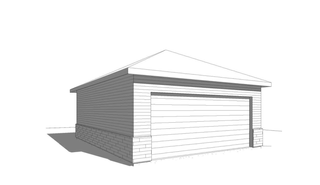 Simple 2-Car Garage
