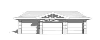 Log Facade Garage