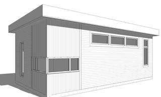Modern Single Car Garage
