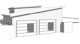 Custom Modern Garage (bi-level)