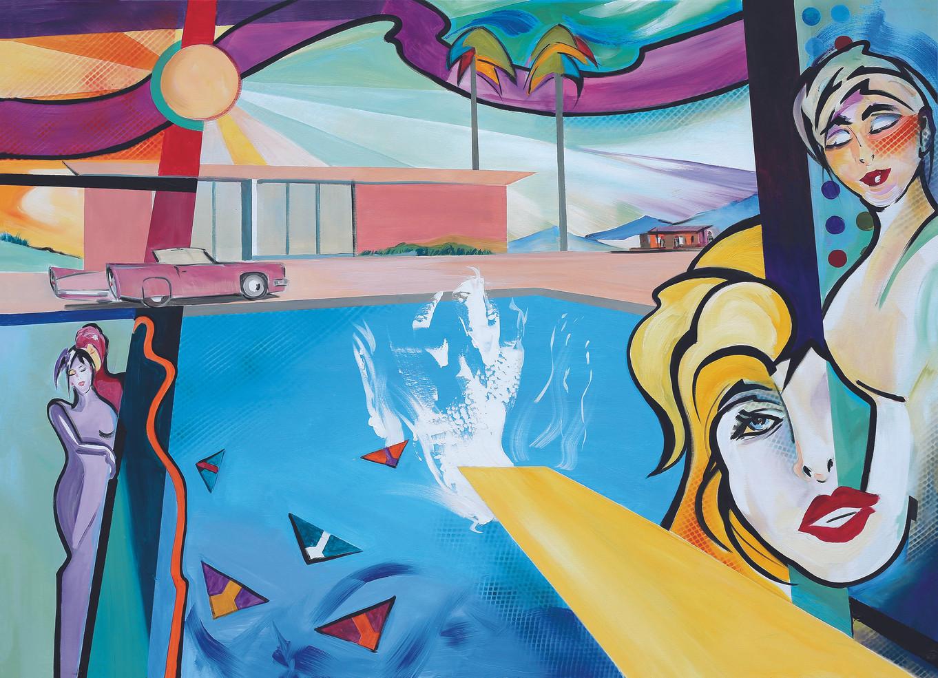 """Hommage an David Hockneys """"Big Splash"""""""