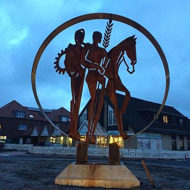 22.12.2020 Skulptur Lastrup- blaue Stund