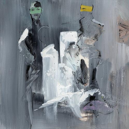Die Frau in grau