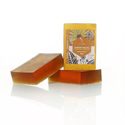 Jabón piel sensible caléndula manzanilla