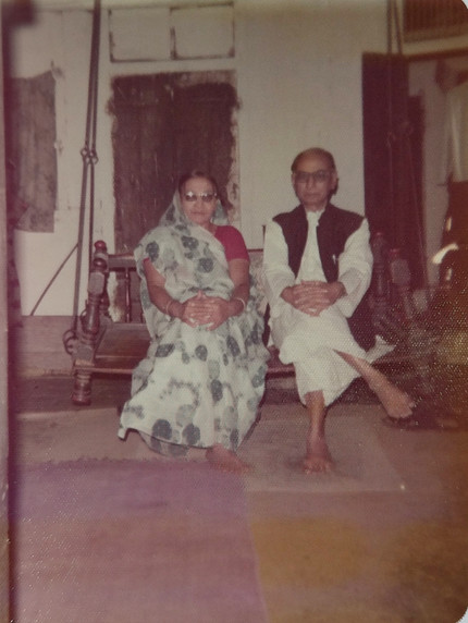 Hariprasad with wife Ansuyaben in their home in Khadia, Ahmedabad.