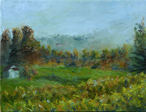 Vineyard Awaiting Mist Small
