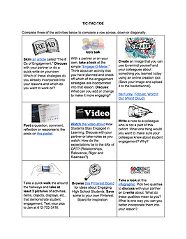 Tic-Tac-Toe Activity for Exploring Stude