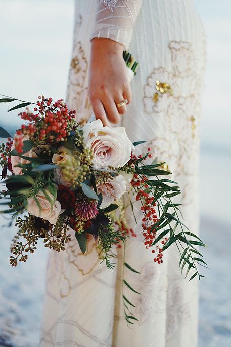 bouquet de la mariée bordeaux
