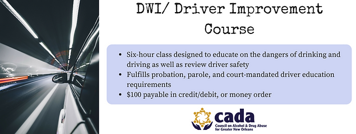 DWI class information graphic