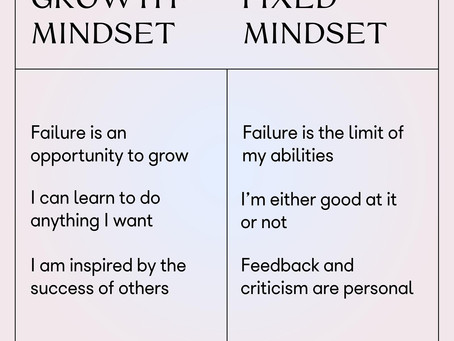 FOCUSING ON A GROWTH MINDSET