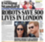 Evening standard front page robot surgery saves 50 lives in London