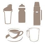 כוסות, ספלים ובקבוקים
