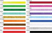 קטלוג צבעים לצמידי נייר טייבק