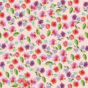 Tiny Dahlias Pattern