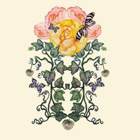 Pretty Peony Art Nouveau Inspired Floral Motif.jpg