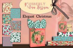 Elegant Christmas Gift Wrap Mock-up