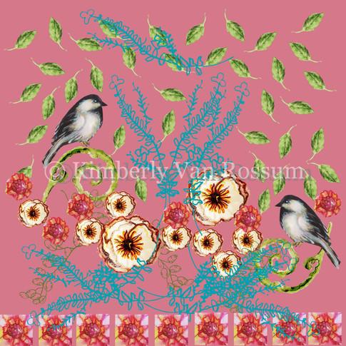 Dahlia Bird Motif
